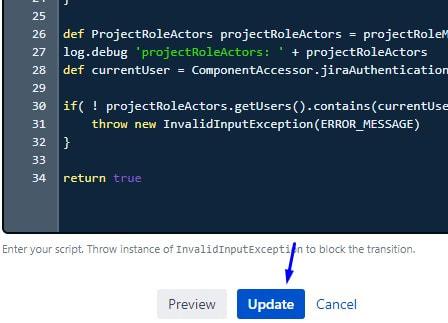 Update validator